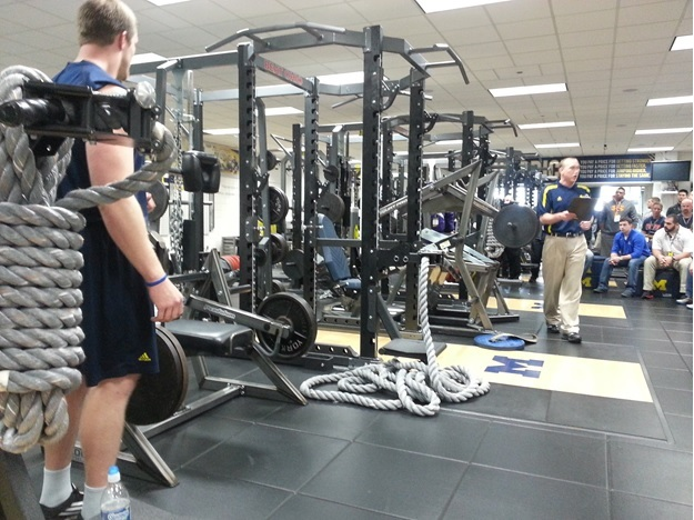 Michigan football strength Clinic