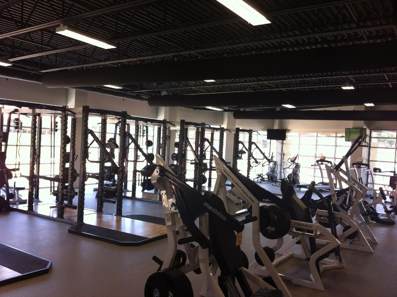 West Rusk Pink Weight Room