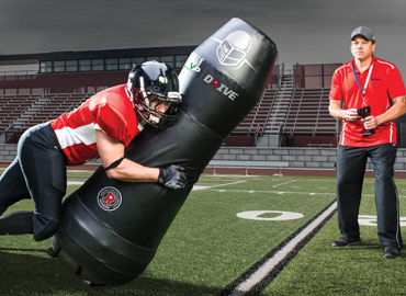 Football tackling dummies and shields