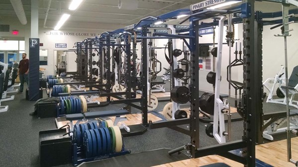 Pendulum Dual Rack's with our Olympic Lift Platforms & Rolling Bumper Plate Storage.