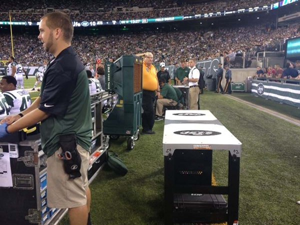 Medic XL on the sidelines of the New York Jets