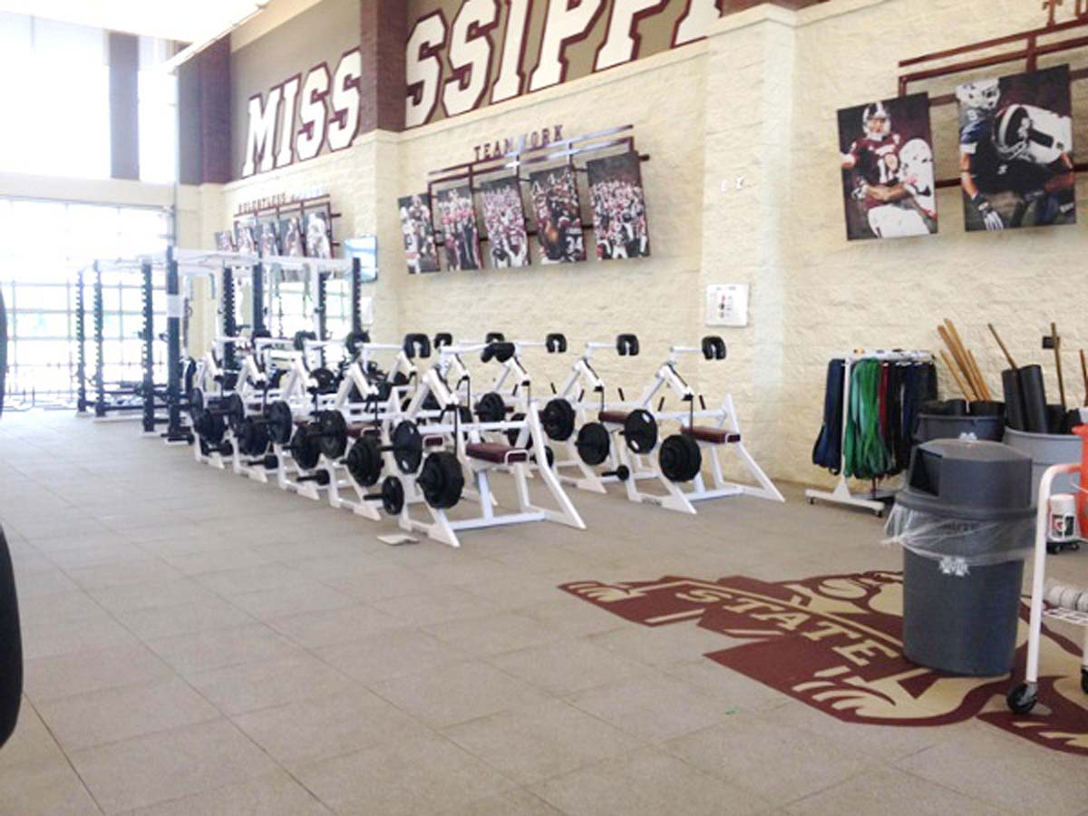 Neck machines at Mississippi State University Strength