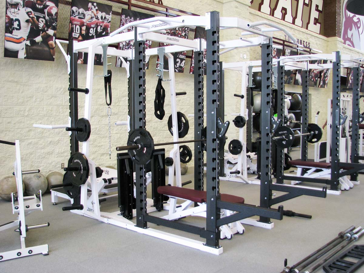 Mega Racks at machines at Mississippi State University Strength