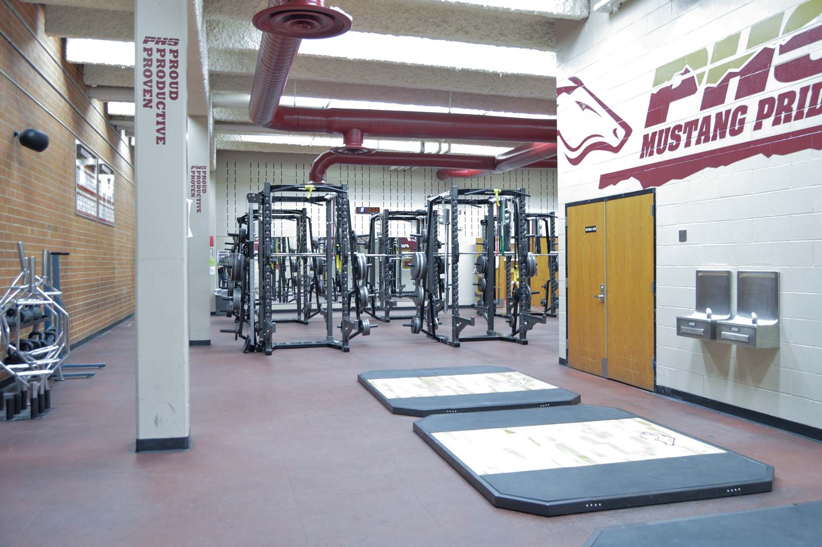 Olympic Lift Platforms at Ponderosa High School