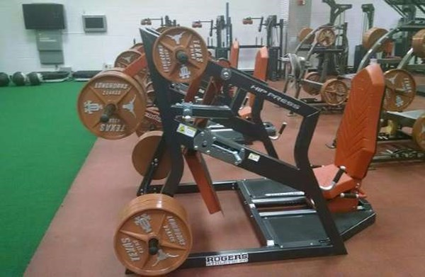 Pendulum Hip Press at the University of Texas Strength & Conditioning
