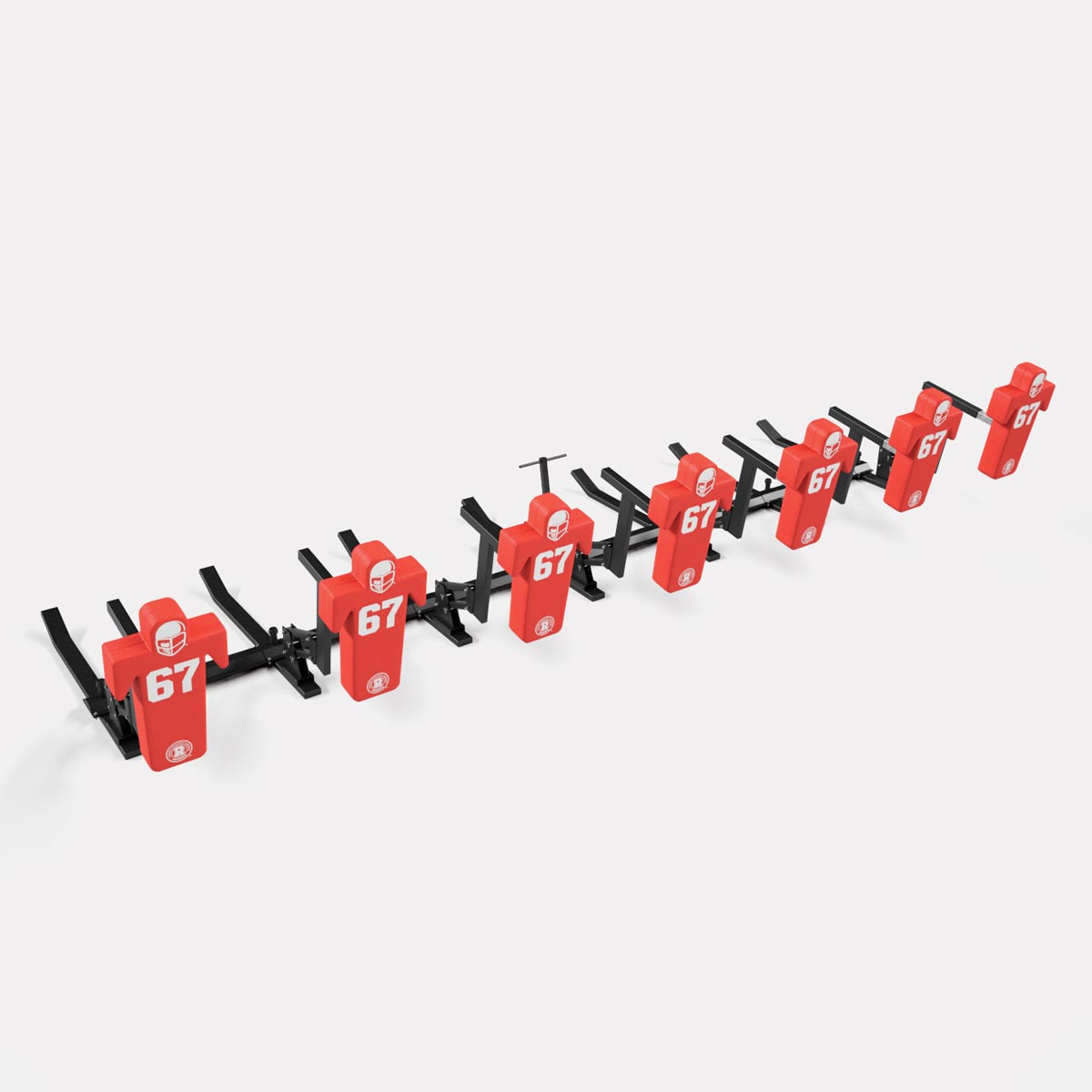 7 man football sled - double action pro