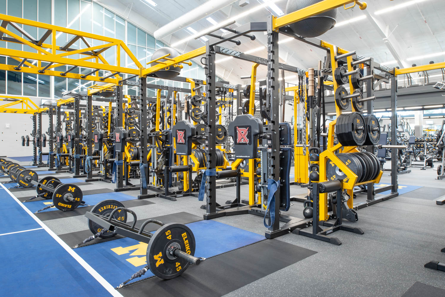 Dual Rack XL at University of Michigan football weight room