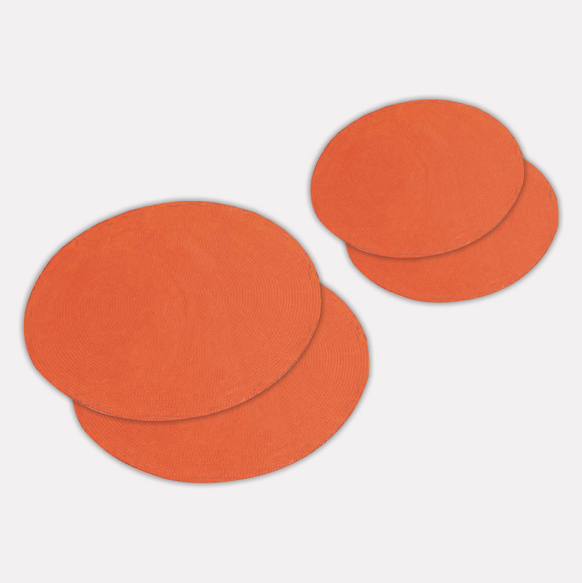orange football dots - 12 inch