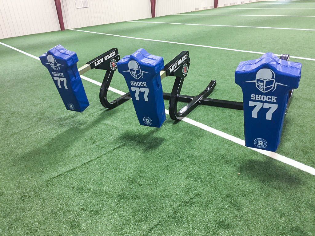 3 man football blocking sled