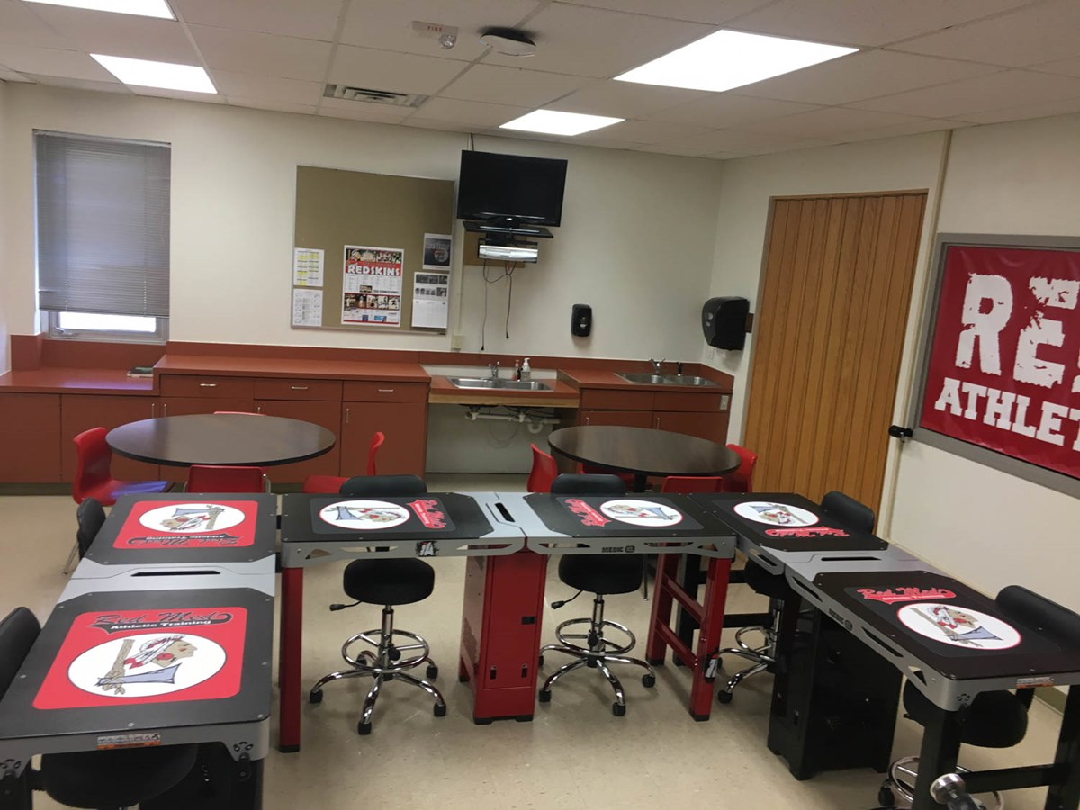 Medic XL tables at Liberal High School in Kansas