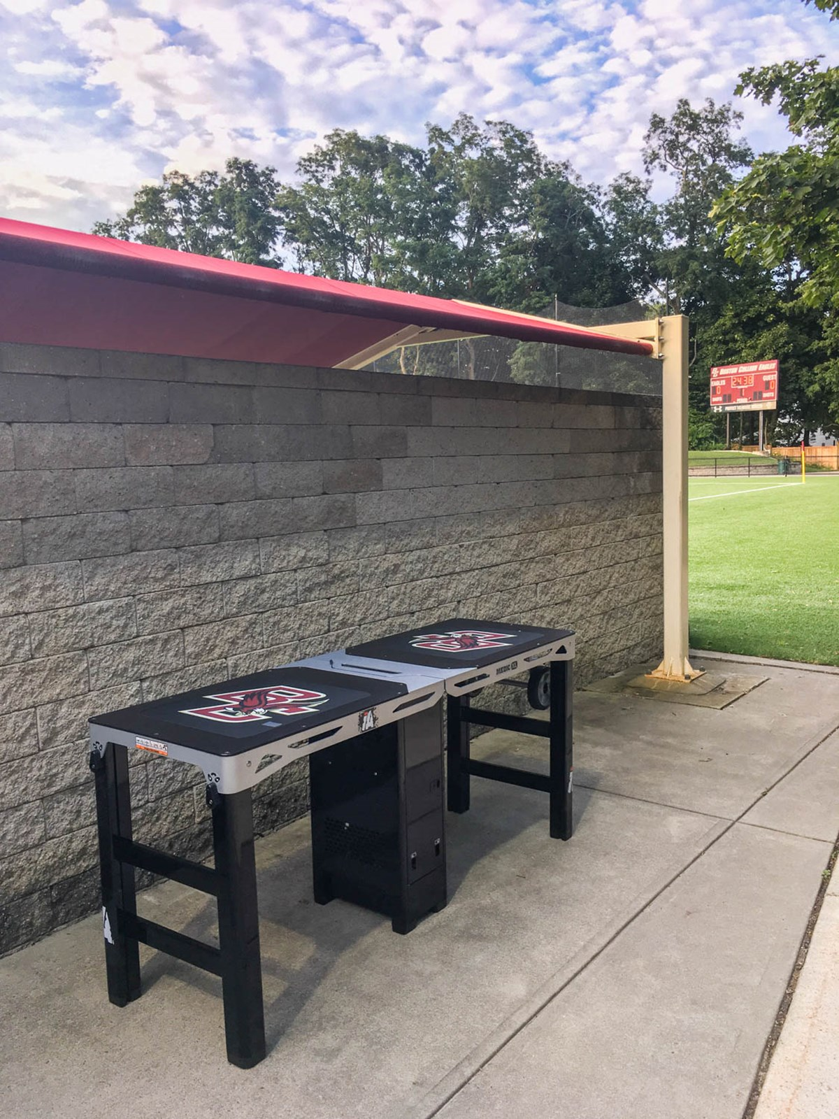 Medic XL athletic training table at Bostom College
