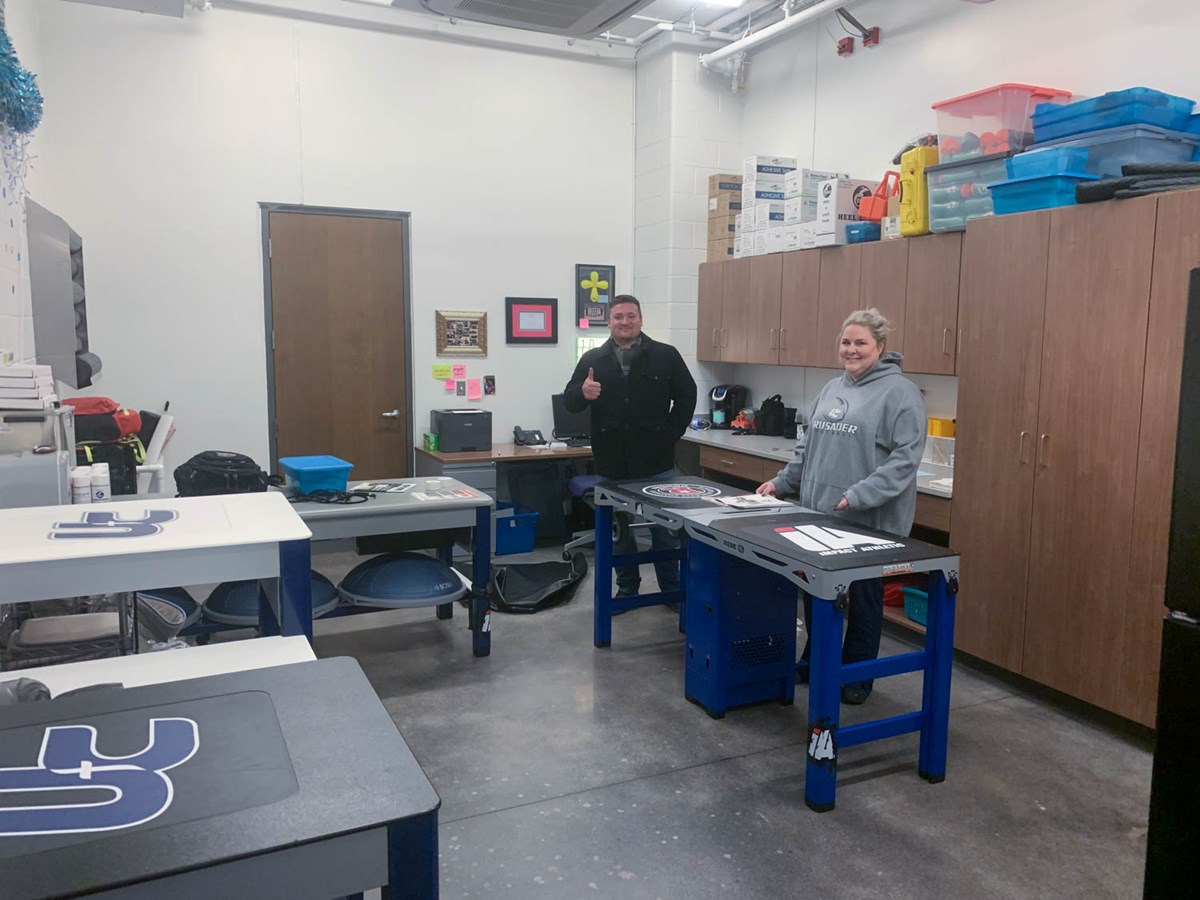 Medic XL athletic training table at Unity Christian School in Michigan