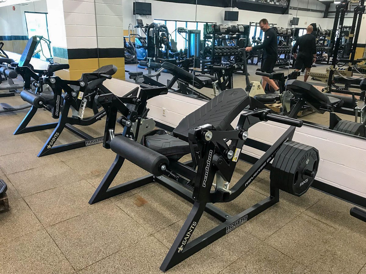Pendulum Reverse Glute Ham Machine at the New Orleans Saints strength training facility
